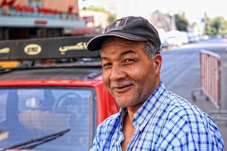 カサブランカのタクシードライバー