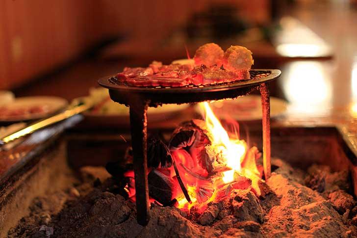くじゅうの麓で焼き肉